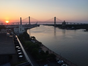 Savannah River from the rooftop terrace