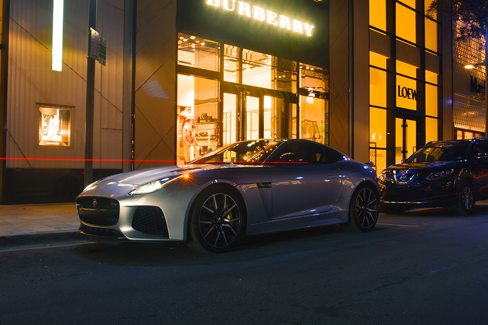 JAGUAR F-TYPE SVR night shoot