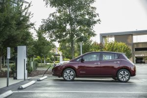 new 30 kWh battery for LEAF models that delivers an EPA-estimated driving range of 107 miles* on a fully charged battery.